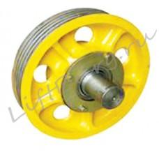 Канатоведущий шкиф (КВШ, Traction wheel) Hitachi Ø 410/400