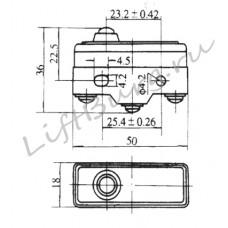 Концевой выключатель (Short spring plunger type) LXW5-11D1/FL