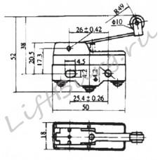 Концевой выключатель (Pivoted roller lever type) LXW5-11G1/FL