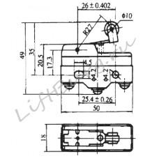 Концевой выключатель (Pivoted roller short lever type) LXW5-11G2/FL