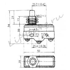 Концевой выключатель (Panel type panel mounting) LXW5-11M/FL