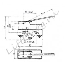 Концевой выключатель (Pivoted lever type) LXW5-11N1/FL