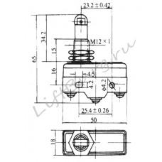 Концевой выключатель (Panel mounting roller plunger type) LXW5-11Q1/FL
