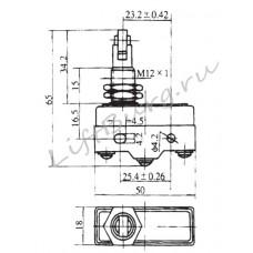 Концевой выключатель (Panel mounting cross roller plunger type) LXW5-11Q2/FL