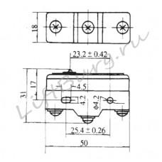 Концевой выключатель (Plunger type) LXW5-11Z/FL